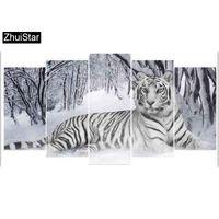 schönheit tier malerei großhandel-Zhui Star 5D DIY Full Square Diamant Malerei