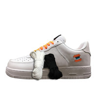 Wholesale f cards - Hot 1 Mens White Orange Sport Sneakers Luxury f Casual Skateboard Shoe Multicolor Shoeslace of Top Quality with Red Zip Tie Card