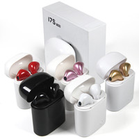 Wholesale Earbuds Iphone Box - I7S TWS Twins Bluetooth Headphones with Charger Box Wireless Earbuds Headset for Iphone X 8 7 Plus Android Samsung Sony Headphones
