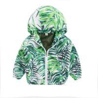 vêtements de bébé en bambou achat en gros de-Enfants Bébé Manteau Automne Veste Survêtement Bambou À Capuche Coupe-vent enfant vêtements manteau fille Dropshipping