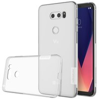 Wholesale nillkin case for lg - For LG V30 case cover NILLKIN Ultra Thin Transparent Nature TPU Case For LG V30 Clear TPU Soft Back cover +Retail package