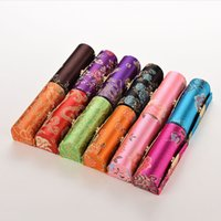 Wholesale 1pcs lipstick for sale - Group buy 1PCS Mini Embroidered Flower Design Lipstick Case Box with Mirror Hasp Cosmetic Bags Coin Lipstick Holder