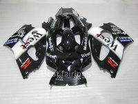 siyah beyaz gsxr toptan satış-SUZUKI GSXR600 GSXR750 SRAD için sıcak satış kaporta kiti 1996-2000 beyaz siyah GSXR 600 750 96 97 98 99 00 fairings TT57
