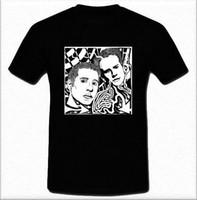 ingrosso arte popolare americana-Magliette da vendere Moda Paul Simon e Art Garfunkel American Folk girocollo manica corta da uomo T-shirt