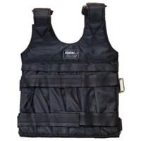 chaleco de carga al por mayor-10kg 50kg Cargando Chaleco ponderado para equipo de entrenamiento de boxeo Ejercicio ajustable Chaqueta negra Swat Sanda Sparring Protect