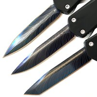 ingrosso coltelli da combattimento-Micro coltello tattico EDC portatile da combattimento coltello 440C alluminio 00556 D / E coltelli da caccia da campeggio