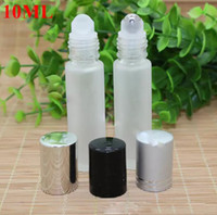 Wholesale frosted perfume bottles for sale - Group buy Large Stocks ml Frosted Clear Glass Roll On Bottle Essential Oil Perfume Roller Bottles With Stainless Steel Roller Ball BY DHL