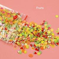 ingrosso argilla polimerica 3d fimo-Focallure 1000 pz / pacco 3D Nail Art Frutta Fiori Fimo Fette Fette Polymer Clay Fetta DIY Decorazione Nail Sticker Monili
