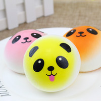 Wholesale panda accessories - 3D Kawaii Squishy Rare Jumbo Squishies Panda for Keys Phone Strap Mobile Phone Charm Pendant Keychains Cell Phone Accessories Colorful DHL