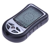 Wholesale Weather Barometers - 8 in 1 Electronic Handheld Compass Altimeter Barometer Thermometer Weather Forecast Time Calendar Clock with Backlight Compasses