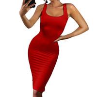 schöne frauen nacht kleid groihandel-Mode-Design Nizza Frauen Kleider Sexy Sleeveless Tank Tops Kleid Bodycon Party Nacht Kleid Weibliche Für Damen Vestidos WS5143P