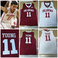 Wholesale 3xl basketball jersey - NCAA Oklahoma Sooners #11 Trae Young Jerseys Stitched Red White Best Quality College Basketball Jersey S-3XL