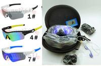 markalar sabit diskler toptan satış-Marka tasarım MAN Polarize TR90 ÇERÇEVE Rüzgar gözlük + SERT KıLıF Kadınlar Açık Spor Bisiklet Gözlük sürüş cam 9 Renkler 5 LENS ÜCRETSIZ KARGO