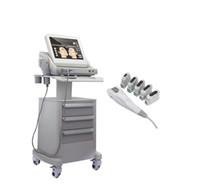máquina de elevación del cuerpo de la cara al por mayor-Grado médico Real HIFU Ultrasonido enfocado de alta intensidad Máquina de estiramiento facial Hifu Anti envejecimiento con 3 cartuchos o 5 cartuchos para cuerpo facial