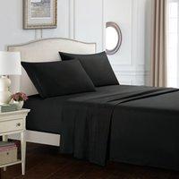 sábanas de microfibra al por mayor-ISHOWTIENDA Juego de sábanas para el hogar Juego de sábanas de cama Súper suaves de microfibra Luxury Sheets 16 pulgadas de profundo arrugas de bolsillo