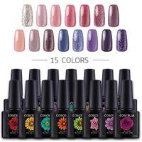 Wholesale gel nails polish colors online - 10ml Nail Gel Polish Semi Colors Lacquer UV Polish Poly Gel Hybrid Varnish Lacquer For Nail Art Paint