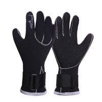 Wholesale spearfishing equipment for sale - Group buy Neoprene Scuba Dive Gloves Snorkeling Equipment Anti Scratch Keep Warm Wetsuit Material Winter Swim Spearfishing Hand Guard xj dd