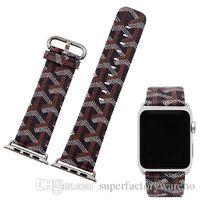 Wholesale snake paintings - 1PCS Watch band Watch strap watch strap painting Anti-snake pattern 38mm 42mm