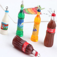 Wholesale enameled jewelry for sale - Group buy 40PCS Enameled Sprite Cola milk bottle charm pendant bracelet necklace charn jewelry findings