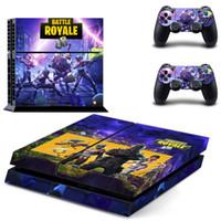 набор игровых приставок оптовых-44 цвета Fortnite наклейка для Sony PlayStation 4 консоли кожи PS4 контроллер наклейки крепость ночь 3 шт. / компл. мультфильм контроллер протекторы