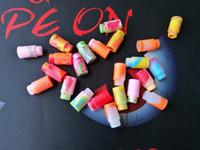 capas de vapor venda por atacado-Bocal de silicone Tampa De Borracha Gotejamento Ponta Colorido Rainbow Silicon Descartável Universal Dicas de Teste Cap Tester Para 510 fio Vape Tanque DHL