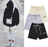 en kaliteli giysiler toptan satış-Tanrı'nın Korkusu Erkekler Şort En Kaliteli 18SS Sis ESSENTIALS Boxy Giysi Moda Erkek Kısa Pantolon