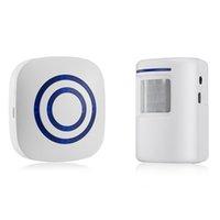 Wholesale infrared door sensor alarm resale online - Digital Wireless Doorbell Welcome Body Door Bell with PIR Sensor Infrared Detector Induction Alarm Home Security