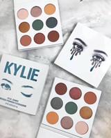 Wholesale Multi Color Highlighter - 2018 NEW Kylie Jenner 9 colors Blue Honey Eyeshadow Palette Kyshadow Honey Palette 9 color Highlighters Makeup palettes DHL