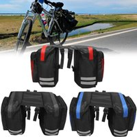 Wholesale bicycle accessories panniers - Cycling Bicycle Saddle Bag Bike Bags PVC and Nylon Waterproof Double Side Rear Rack Tail Seat Bag Pannier Bicycle Accessories BBA347