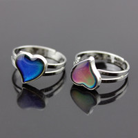 Child/'s//Ladies Heart Magic Colour Changing Mood Ring Adjustable Stainless Steel