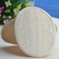 Soft Exfoliating Loofah Natural Body Back Sponge Strap Handle Bath Shower Massage Spa Scrubber Brush Skin body washing pad