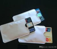 id kreditkartenschutz großhandel-100 stücke Kreditkartenschutz Secure Sleeves RFID Blockierung ID Halter Folie Schild Beliebte Hochzeit Geschenke