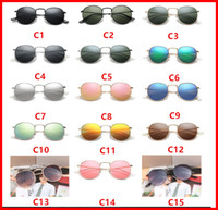 Wholesale Wholesale Lense Glasses - 2018 New 3447 Steampunk sunglasses women men metal frame double Bridge uv400 lense Retro Vintage sun glasses Goggle