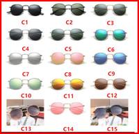 lunettes steampunk achat en gros de-2018 Nouveau 3447 Steampunk lunettes de soleil femmes hommes cadre en métal double Pont uv400 lentille Rétro Vintage lunettes de soleil Lunettes