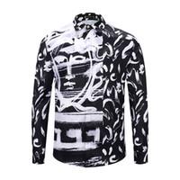 ingrosso abiti casual caldi-HOT Brand New di camicie a maniche lunghe a manica lunga da uomo Casual Harajuku Camicie di lusso Medusa da uomo