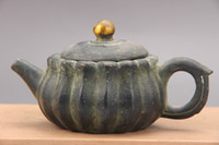 Wholesale antique china marks - Exquisite Chinese bronzes, hand carved, gold-plated teapots, Qianlong Mark
