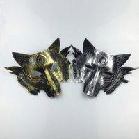 maskeli parti süslemeleri toptan satış-Parti Kurt Maske Cadılar Bayramı Masquerade Parti Maskeleri Kostüm Kurtlar Topu Bar Dekorasyon Yetişkin Parti Kostüm için lin3017