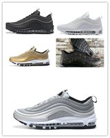 Wholesale free country - Hot Sale 97 QS Country Camo OG Metallic Gold Silver Bullet Premium Running Shoes Men Women sneakers Size 36-45 Free shipping