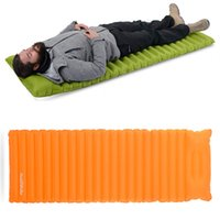 Wholesale Fleece Pad - 2 Styles Manual Inflatable Hand Press Inflating Dampproof Sleeping Pad Portable Tent Air Mat Mattress Outdoor Camping H224Q