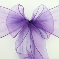 Wholesale tulle fabric for sale - Hot Sale Organza Chair Sashes Bow Cover chair sashes tulle For Weddings Events &Party Banquet Christmas Decoration