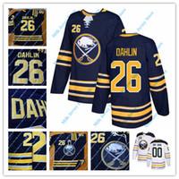Wholesale hockey jerseys sizes - 26 Rasmus Dahlin Jersey Buffalo Sabres Hockey Jerseys Navy White Size S-3XL 100% Stitched