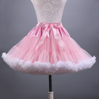 Wholesale Tutu Pettiskirt Adults - 2018 New Adult Short Tulle Pettiskirt Colorful Tutu Skirt Crinoline Jupon Saia for Women