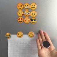 Wholesale Cute Magnets - Cute Expression Emoji Fridge Magnet Glass Cabochon Fridge Sticks Home Decor Drop Shipping