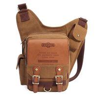 Wholesale kaukko bags for sale - Group buy JJ194 L New style KAUKKO brand men retro high quality canvas bag travel men messenger bags man crossbody bags shoulder bag