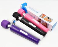 ingrosso giocattolo della bacchetta del corpo-USB ricaricabile Magic Wand Massager 30 Velocità AV Vibratore Full Body Massager 110 ~ 250V Tensione Giocattoli del sesso per le donne