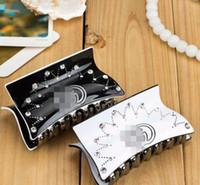 pinzas para el cabello femenino al por mayor-Nueva Diseñador de Chica Femenina Rhinestone Clip de Pelo Tocado Accesorios Accesorios de Fiesta Accesorios de Moda Regalo para el Amor 8.8 * 5 cm0748