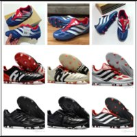 Wholesale Indoor Turf Football Shoes - high quality soccer cleats Predator Precision TF IC turf football boots Predator Mania Champagne FG indoor soccer shoes