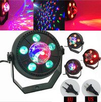 Wholesale rotating disco ball light - LED Stage Light 11W RGB Music Sound Activated Automatic Rotating Magic Ball Projector Dancing Disco Party Lights for DJ KTV Bar