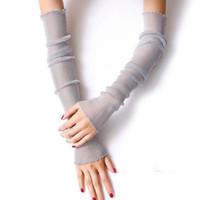 Cute Giraffe Head UV Sun Protective Outdoors Stretchy Cool Arm Sleeves Warmer Long Sleeve Glove