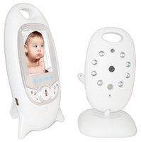 mode vidéo moniteur bébé achat en gros de-Moniteur vidéo sans fil pour bébé Caméra de sécurité couleur 2 pouces Moniteur 2 voies NightVision IR Surveillance de sécurité pour bébé température avec 8 berceuses
